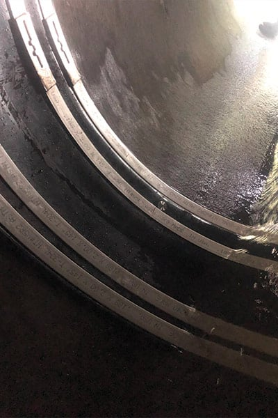 Pooling water above ground proving pipe failure