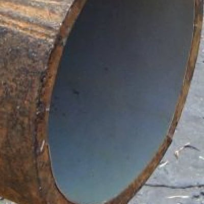 Close-Up of a water main pipe coated internally with WaterLine