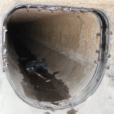 D-Shaped Culvert with a custom seal protecting its joint